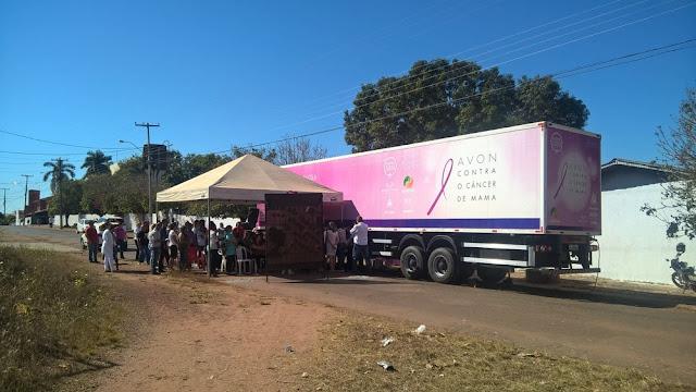 Mais de 400 mulheres serão atendidas pela carreta do Hospital de Câncer em Cacoal
