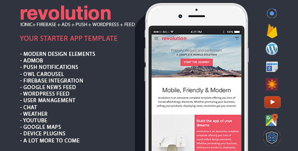 Nulled] CodeCanyon - revolution v1 0 - complete Ionic app