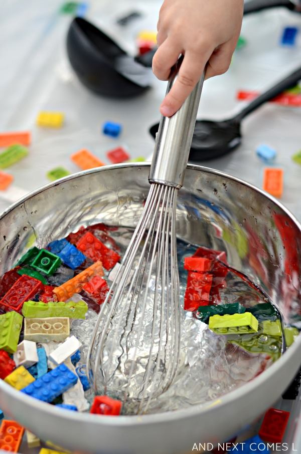 Lego Sensory Bin With Water And Next Comes L