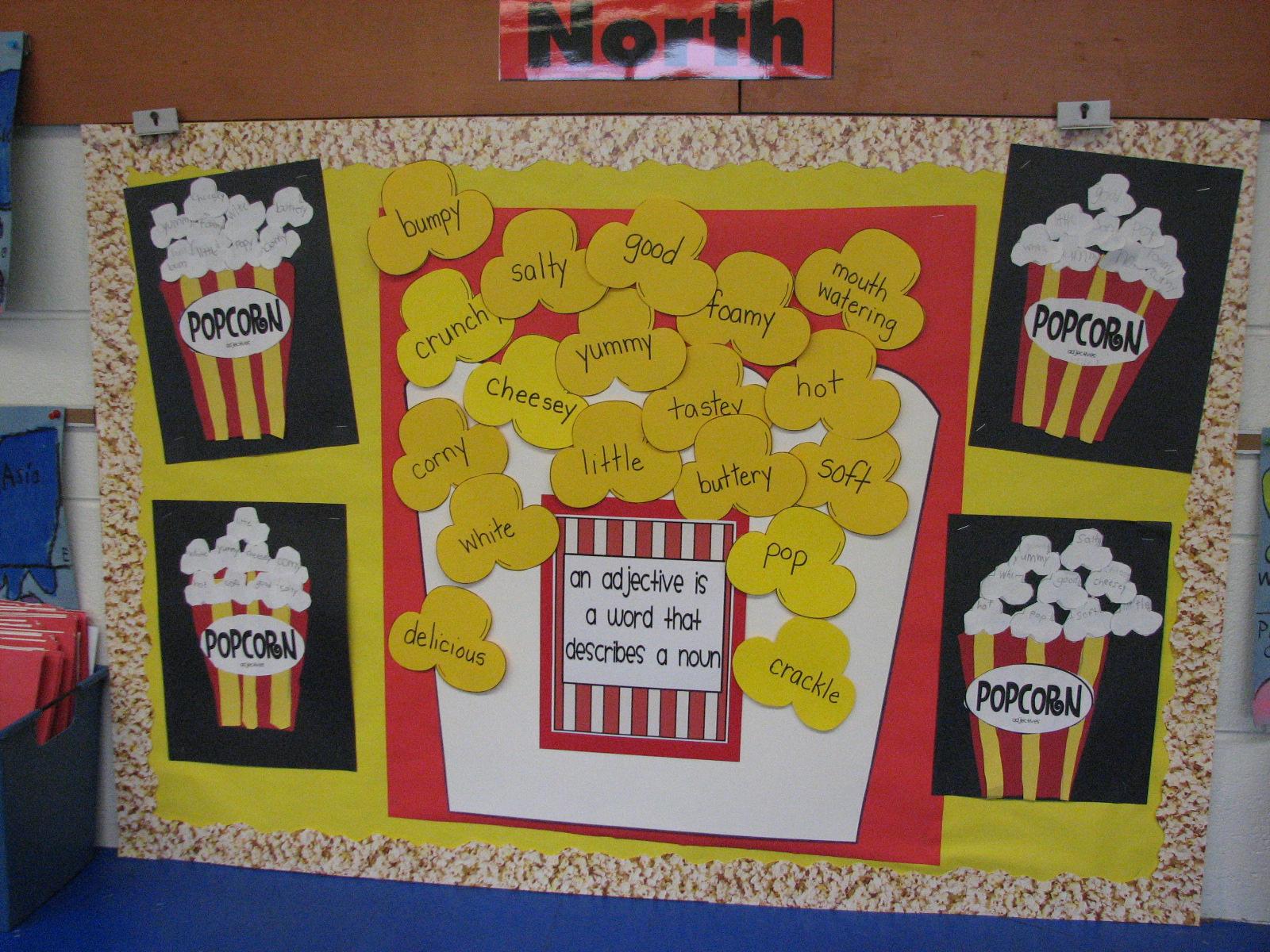 Dew Drop Into First Grade Popcorn Adjectives Yum Yum