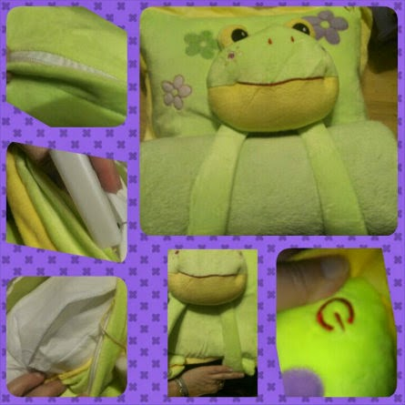 smiling frogging lullaby light up pillow collage