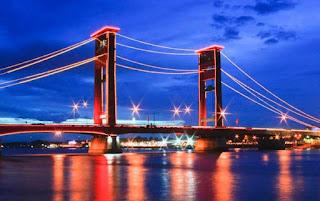 tempat wisata di sumatera selatan jembatan ampera