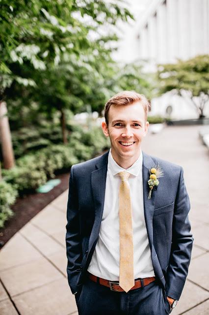 Blake at Portland Oregon LDS Temple