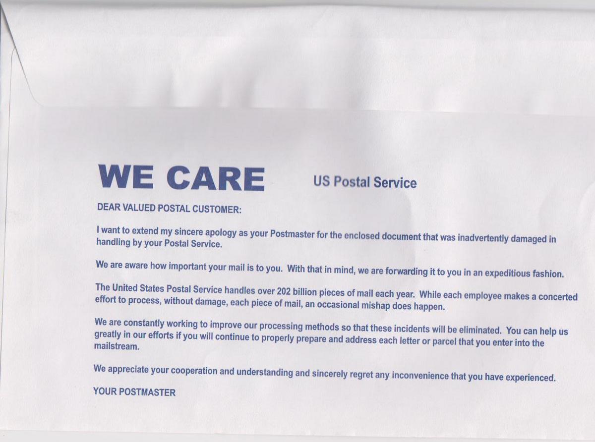 e Postcard a Day Survivor of a Mail Catastrophe
