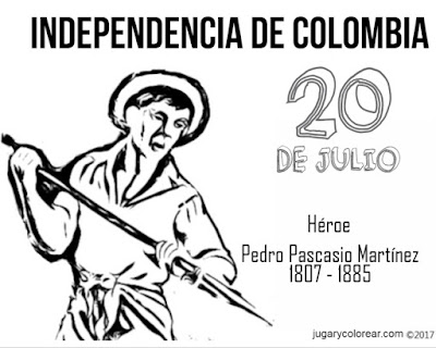 Dibujo para colorear de Pedro Pascasio, héroe