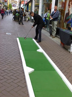 Lyle & Scott's Carnaby Street shop in London used an UrbanCrazy course for a special Minigolf Hole-in-One Challenge