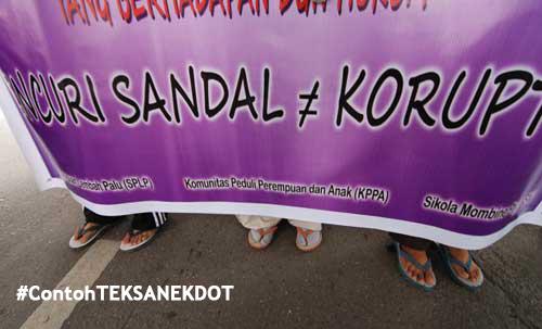 Hukuman pencuri sandal vs koruptor