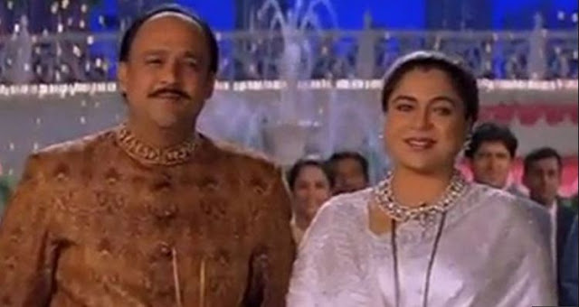 Reema Lagoo With Alok Nath