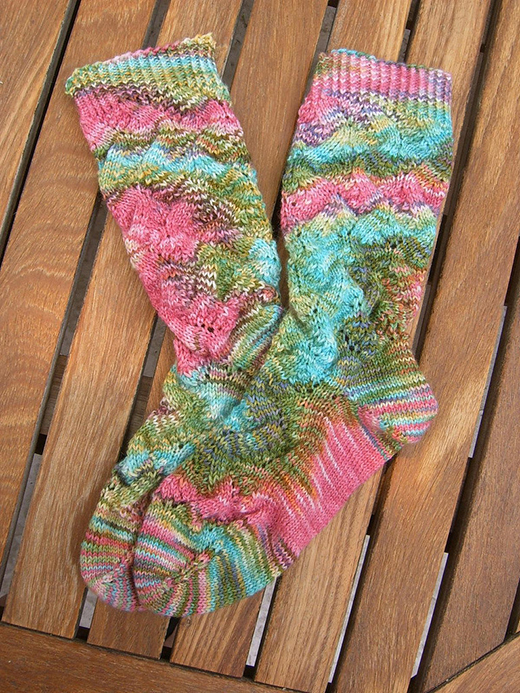 Spring Forward Socks Free Knitting Pattern