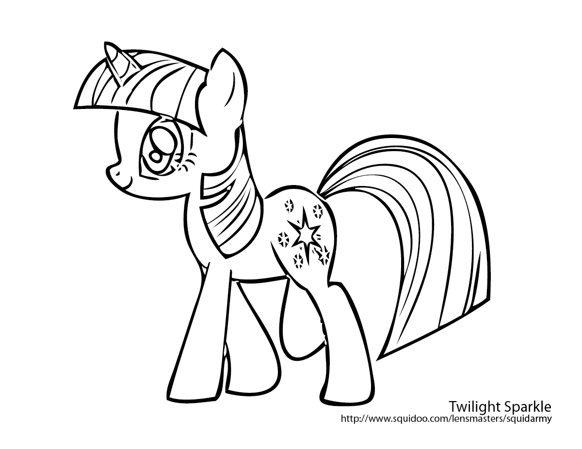 My Little Pony Baby Twilight Coloring Page Free Coloring Pages Of