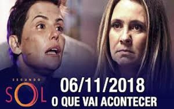 Segundo Sol: Karola surpreende Laureta em Itaparica (06/11) (Imagem: Reprodução/TV Globo)