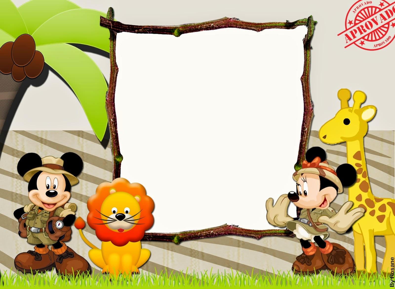 Mickey Y Minnie De Safari Imprimibles Gratis Para Fiestas