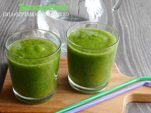 Zielony koktajl ze szpinkiem i nasionami CHIA - Czytaj więcej »