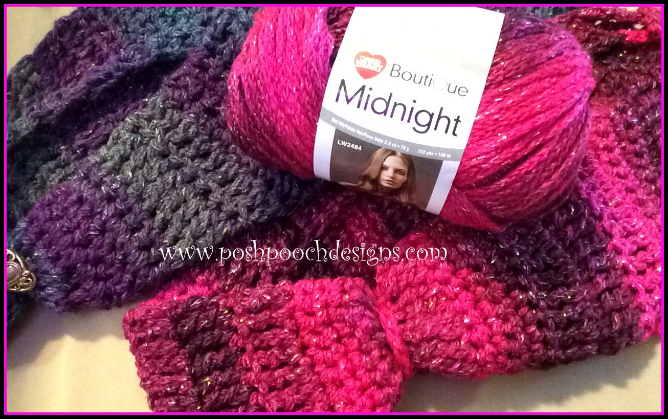 Knitting Patterns For Red Heart Boutique Midnight : Posh Pooch Designs Dog Clothes: Midnight Sparkle Cowl ...