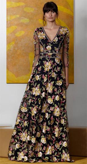 PatBO Verão 2017 vestido longo de festa bordado com linhas de seda