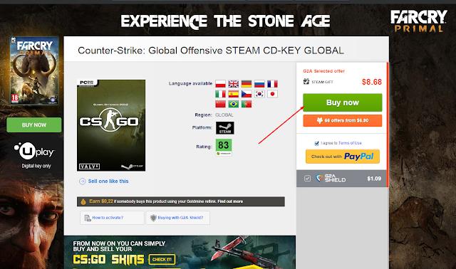 كيفية شراء سيريل الالعاب من موقع G2A وتنزيل اللعبة من steam