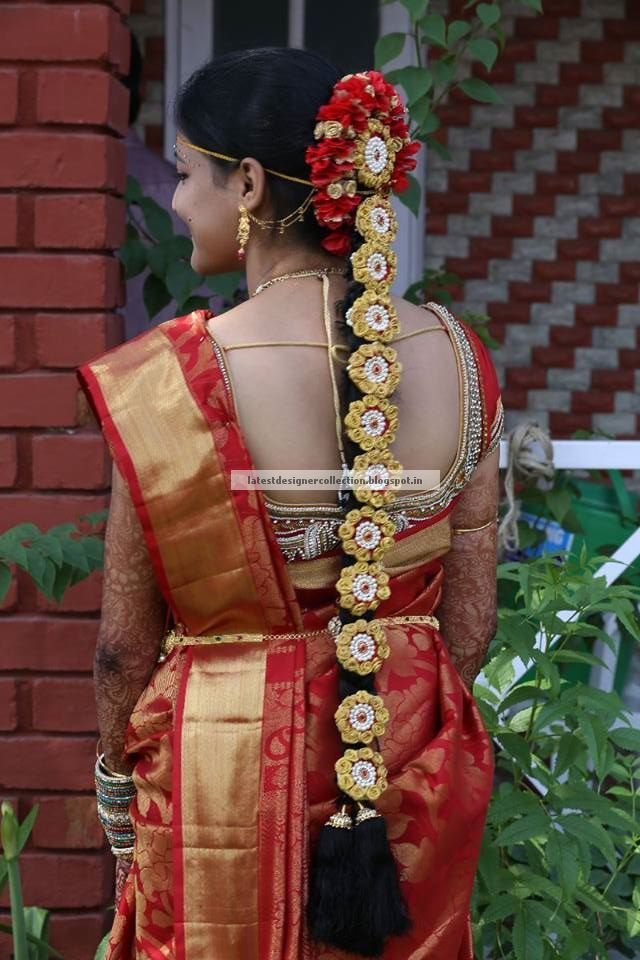 South Indian Wedding Hairstyles For Long Hair ~ Latest ...