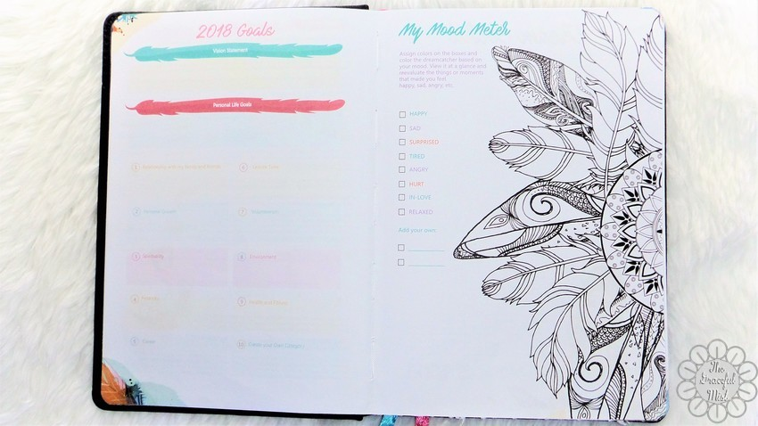 A Close-up Look inside a Filipino Lady`s Planner: 2018 Belle De Jour Power Planner | First Impressions and Reviews | 2018 Goals Page and My Mood Meter Pages - Top Beauty, Books, Health, Fashion, Life, Lifestyle, Style, and Travel Blog/Website - by Filipino/Filipina/Pinay - Blogger/Freelance Writer in Quezon City, Metro Manila, Philippines