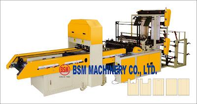T-SHIRT & BOTTOM SEALING BAG MAKING MACHINE ; VEST & BOTTOM LINE BAG MAKING MACHINE