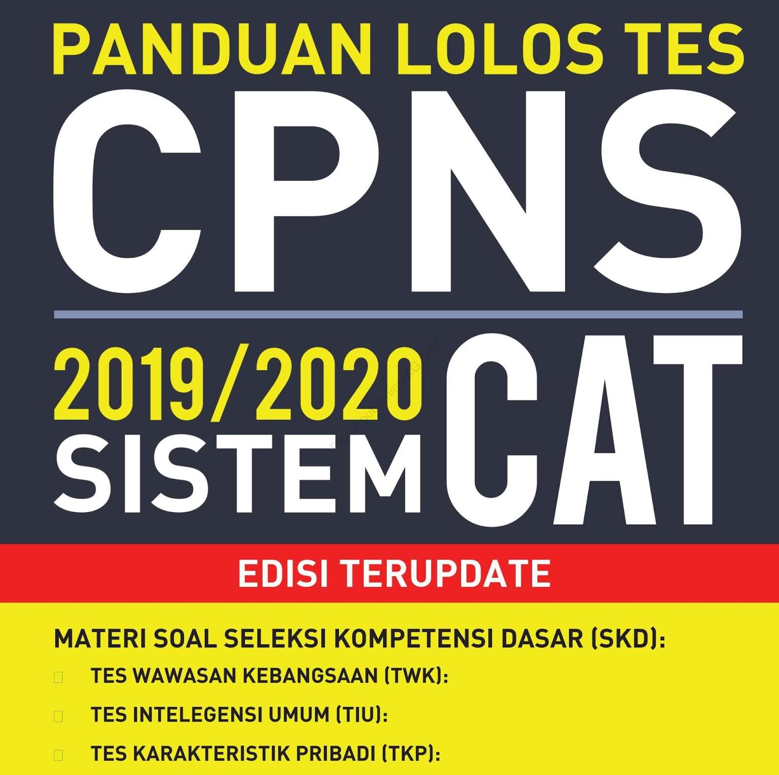Download Panduan Lolos Tes CPNS 2019-2020 Sistem CAT Edisi Terupdate