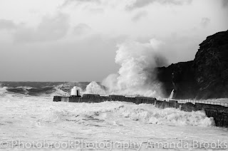High tide in Portreath