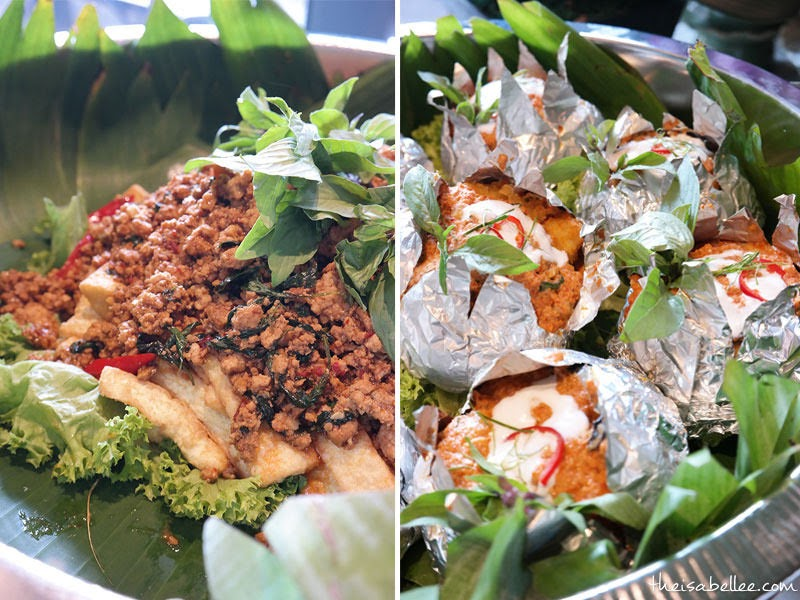 Mr Tuk Tuk Fried Tofu with Basil Leaves and Thai Seafood Otak-Otak