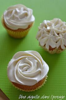 cupcakes (ganache montée chocolat blanc) douille 2D