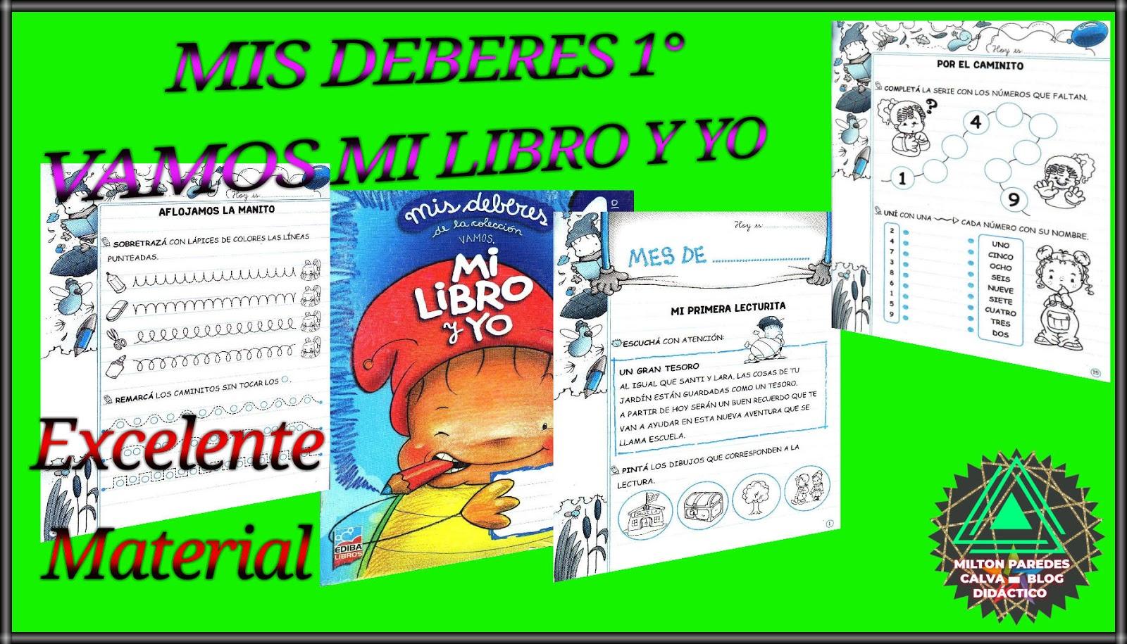 Mis Deberes 1 Vamos Mi Libro Y Yo Milton Paredes Calva Blog
