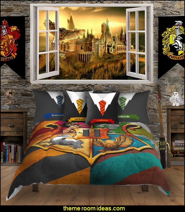 harry potter hogwarts house bedroom decorating