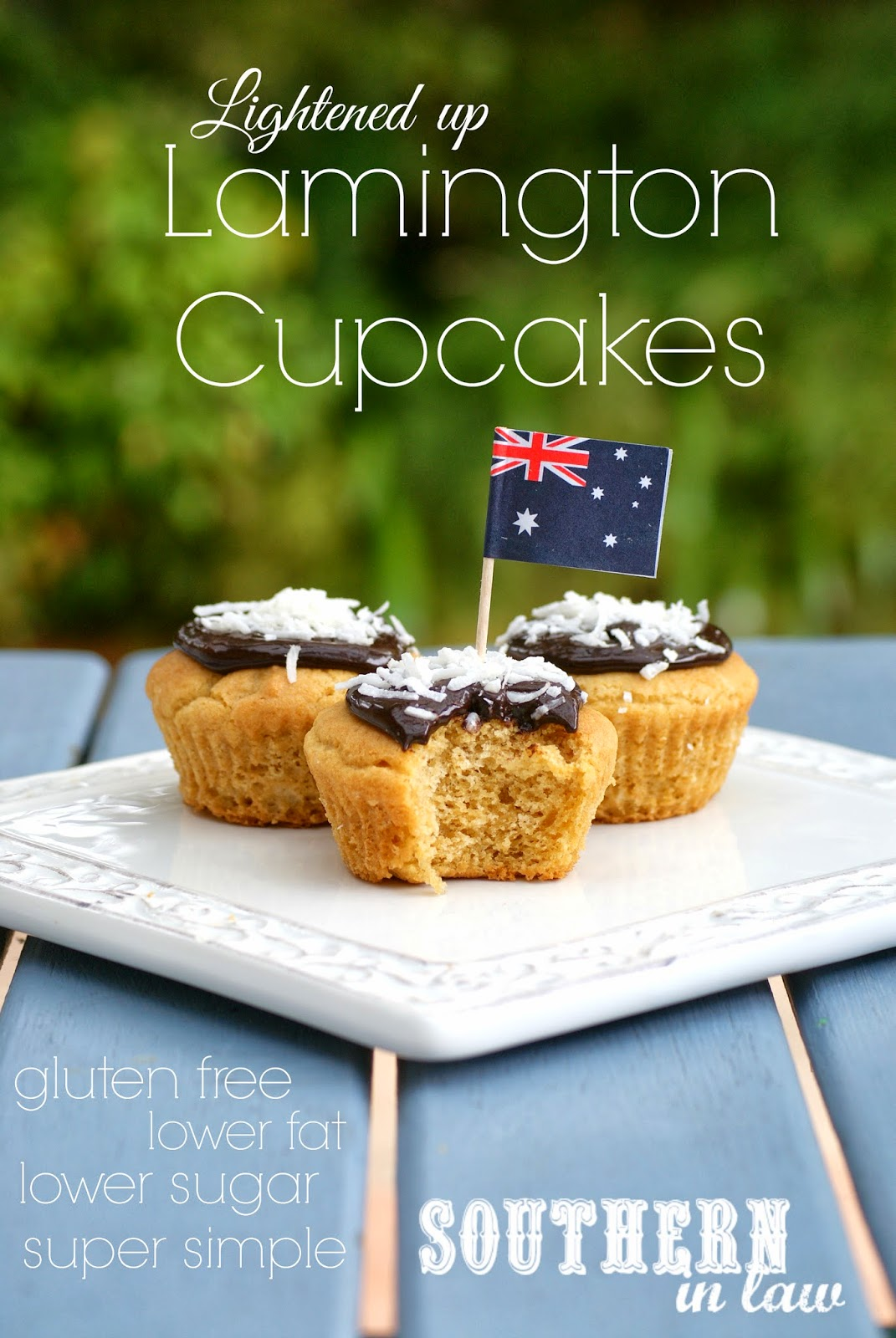 Low Fat Lamington Cupcakes - Healthier Butter Cake Recipe - Gluten Free, Low Sugar