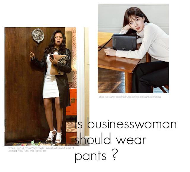 Is businesswoman should wear pants ? Czy bizneswoman powinna nosić spodnie ?