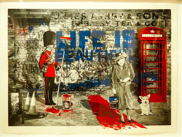 British themed painting from Mr Brainwash exhibit at ARA Modern Art Museum, Seoul, South Korea