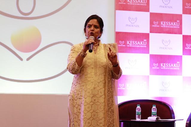 Vasantha Vaikunth at the launch of her website