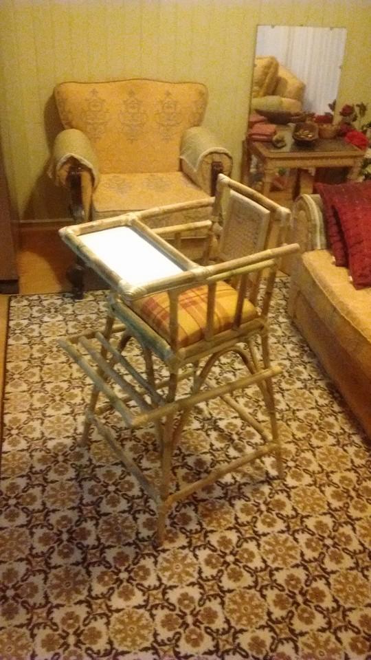 Artesanías y Muebles Luis Riffo: Silla de bebe, trabajo de colihue