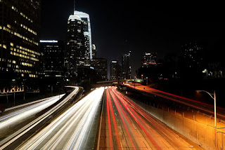 """A freeway in Los Angeles.  """"This is about health, it's about life and death,"""" Gov. Jerry Brown of California said of the state's lawsuit (Credit: Raymond Boyd/Getty Images) Click to Enlarge."""