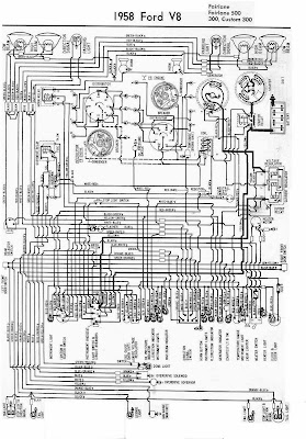 Electrical Wiring Diagram For 1958 Ford V8 | All about