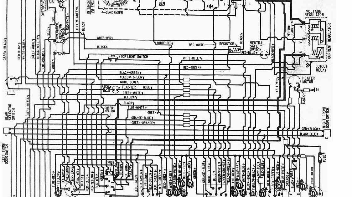 Electrical Wiring Diagram For 1958 Ford V8 | All about