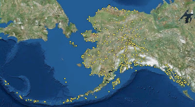 Contaminated sites in Alaska, FY 2017. This map marks the locations of contaminated sites throughout Alaska that have been identified by the Alaska Department of Environmental Conversation.  Source: Contaminated Sites Database, Alaska Department of Environmental Conservation