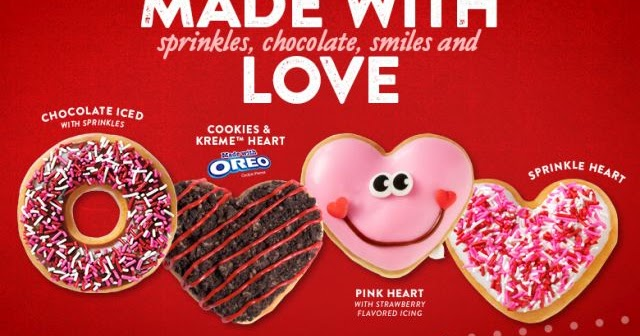 Free Valentine S Day Donut At Krispy Kreme On January 31