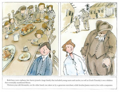 illustrations Aaron and Alexander by Don Brown nonfiction history