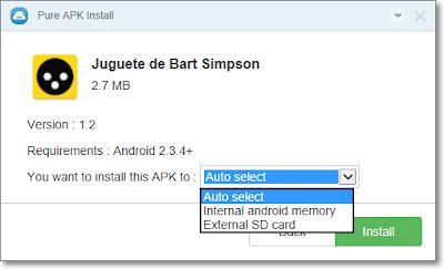 Instalación de APK en Windows