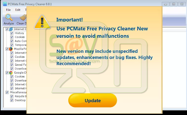 PCMate Free Privacy Cleaner (Falso optimizador)