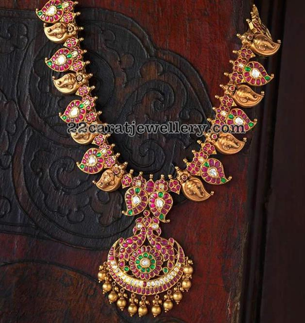 Mango Necklace with Ganesh