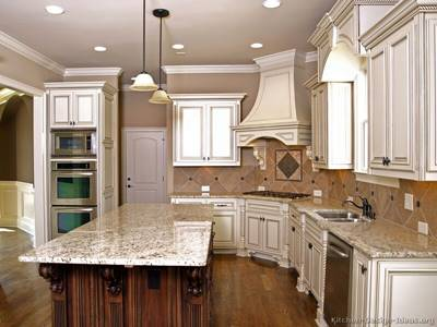 20 Antique White Kitchen Cabinets