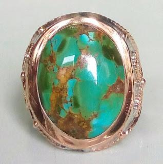 Batu akik pirus persia serat emas