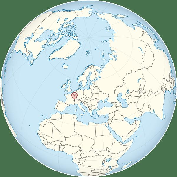 Letak negara Luksemburg