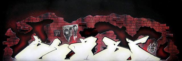 """Beast"" acrylic painting & plexiglass"