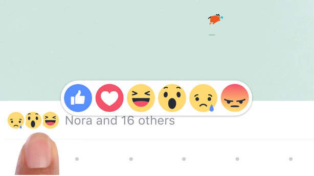 Facebook has upgraded the like button with six different reactions (including like) instead of dislike button