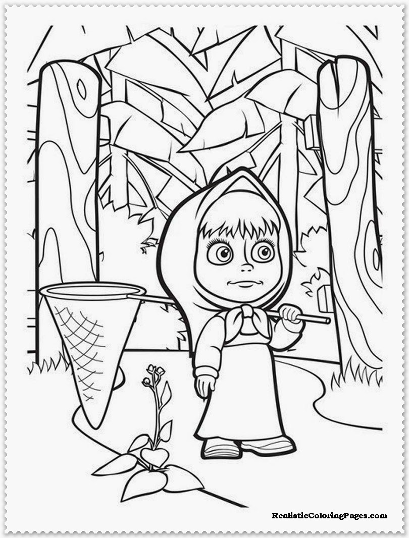 mascha colouring pages printable
