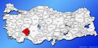 Isparta ilinin Türkiye haritasında gösterimi